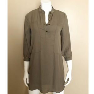 Monteau Olive Green 3/4 Sleeve Dress